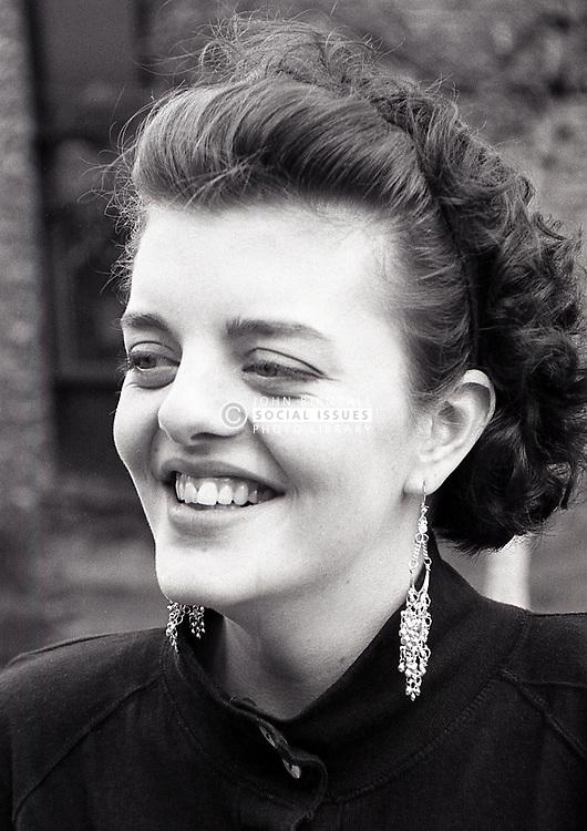 Portrait of teenage girl, Nottingham, UK 1989