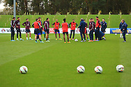 Roy Hodgson, England manager talks to his squad - England Training & Press Conference - UEFA Euro 2016 Qualifying - St George's Park - Burton-upon-Trent - 11/11/2014 Pic Philip Oldham/Sportimage