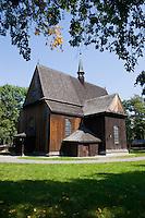 St Bartholomew's Wooden Church in Mogila near Nowa Huta in Krakow Poland