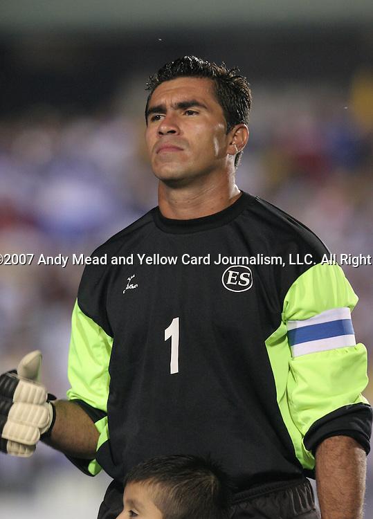 El Salvador's Juan Jose Gomez on Tuesday, March 27th, 2007 at SAS Stadium in Cary, North Carolina. The Honduras Men's National Team defeated El Salvador 2-0 in a men's international friendly.
