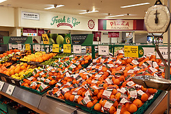 Fresh Citrus fruits on sale in Morrisons supermarket UK