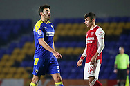 AFC Wimbledon defender Will Nightingale (5) walking off pitch during the EFL Trophy match between AFC Wimbledon and U21 Arsenal at Plough Lane, London, United Kingdom on 8 December 2020.