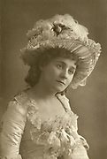 'Kate Rorke (1866-1945)  English actress pictured c1890. In 1889 she plaed the female lead opposite Forbes Robertson in Pinero's first 'serious' play ''The Proflicate'' atthe Garrick Theatre, London.'
