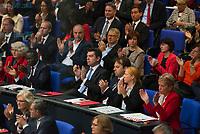 DEU, Deutschland, Germany, Berlin, 24.10.2017: Fraktion der SPD, SPD-Abgeordnete, bei der konstituierenden Sitzung des 19. Deutschen Bundestags mit Wahl des Bundestagspräsidenten.