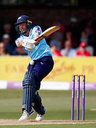 Yorkshire's Jack Leaning during the One Day Cup, Quarter Final at the Cloudfm County Ground, Essex. PRESS ASSOCIATION Photo. Picture date: Thursday June 14, 2018. See PA story CRICKET Essex. Photo credit should read: John Walton/PA Wire. RESTRICTIONS: Editorial use only. No commercial use without prior written consent of the ECB. Still image use only. No moving images to emulate broadcast. No removing or obscuring of sponsor logos.