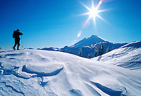 Backcountry Skiing, Cross Country Skiing, Mt. Baker, USA..All Rights Reserved
