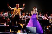 Katherine Jenkins on stage performing.