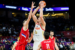 Timofey Mozgov of Russia during basketball match between National Teams of Russia and Serbia at Day 16 in Semifinal of the FIBA EuroBasket 2017 at Sinan Erdem Dome in Istanbul, Turkey on September 15, 2017. Photo by Vid Ponikvar / Sportida