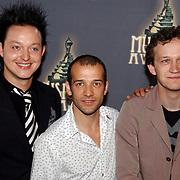 NLD/Amsterdam/20050520 - Lunch genomineerden Musical awards 2005, Mannelijke Bijrol in een kleine Musical, Rop Verheijen, Michele Tesoro, Rein Hofman