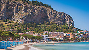 Close to Palermo on the north coast of Sicily Mondello beach is a classic Italian beach resort, rather busy in the summer but glorious turquoise waters all year