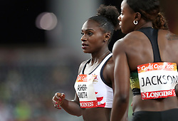 England's Dina Asher-Smith after finishing second in the Women's 200m Semifinal 1 at the Carrara Stadium during day seven of the 2018 Commonwealth Games in the Gold Coast, Australia.