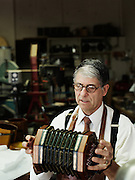 "Bob Tedrow, 59, of Birmingham, Alabama is one of six concertina makers in the United States, and approximately 20 in the entire world. Tedrow moved to Birmingham from the midwest in 1988 to open Homewood Musical Instrument Company, and has been making concertinas there in the store shop since the mid-1990's. ""It's an incredible work of art,"" Tedrow said. ""There's just no other instrument that combines charming workmanship and early 19th century craftsmanship, all with the portability of a six pack of beer."""