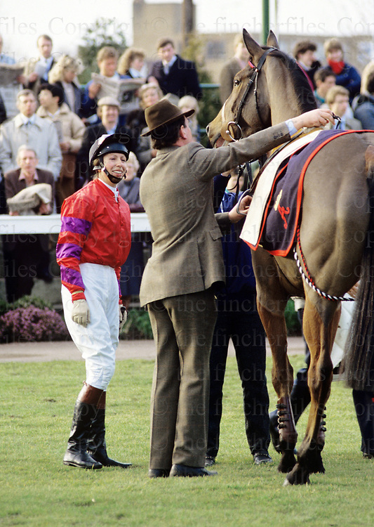The Princess Royal ,Princess Anne seen at Kempton Park during a charity race in which she took part.