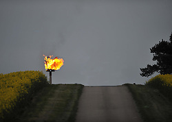 Lonesome Beacon lit for Queens 90th Birthday, on the Duke of Buccleuch Estate in Grafton Underwood, Northamptonshire<br /> <br /> (c) Mike Capps | Edinburgh Elite media
