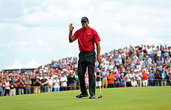 File photo dated 22-07-2018 of USA's Tiger Woods celebrates his putt on the 8th during day four of The Open Championship 2018 at Carnoustie Golf Links, Angus.