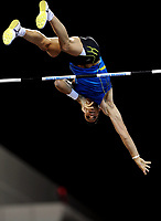 Friidrett<br /> IAAF Diamond League 2013<br /> Doha 10.05.2013<br /> Foto: imago/Digitalsport<br /> NORWAY ONLY<br /> <br /> Greece s Constantinos Filippidis competes during the men s pole vault final at the IAAF Diamond League in Doha, capital of Qatar, May 10, 2013. Filippidis claimed the title of the event with 5.82 metres.