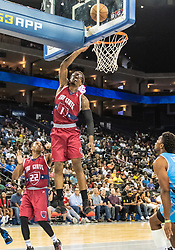July 6, 2018 - Oakland, CA, U.S. - OAKLAND, CA - JULY 06: Amar'e Stoudamire (1) co-captain of Tri-State puts up 2-points during game 3 in week three of the BIG3 3-on-3 basketball league on Friday, July 6, 2018 at the Oracle Arena in Oakland, CA (Photo by Douglas Stringer/Icon Sportswire) (Credit Image: © Douglas Stringer/Icon SMI via ZUMA Press)