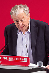 © Licensed to London News Pictures. 26/11/2019. London, UK. Lord Alf Dubs takes the stand at the Bernie Grant Arts Centre in Tottenham as Labour launch their new Race and Faith manifesto.<br /> Labour Leader, Jeremy Corbyn alongside Shadow Home Secretary, Diane Abbott and Shadow Equalities Women's Secretary, Dawn Butler launch Labour's new Race and Faith manifesto which is the culmination of various consultations held across the country. Photo credit: Peter Manning/LNP