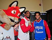 Pesaro , 06/03/2012<br /> Basket, conferenza stampa presentazione all star game 2012<br /> Nella foto: daniel hackett, james white<br /> Foto Ciamillo