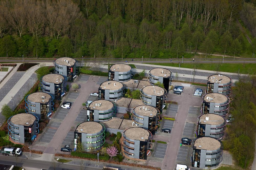 Nederland, Flevoland, Almere, 28-04-2010; bedrijventerrein met kantoren; business park with offices.luchtfoto (toeslag), aerial photo (additional fee required).foto/photo Siebe Swart