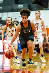 20 February 2020:  Lincoln Way West Warriors v Normal Community West Wildcats for the IHSA Girl's Regional in the gym at Normal Community in Normal IL<br /> <br /> 23