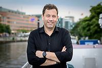 18 JUN 2020, BERLIN/GERMANY:<br /> Lars Klingbeil, SPD Generalsekretaer, Redaktionsschiff ThePioneer ONE auf der Spree<br /> IMAGE: 20200618-03-029