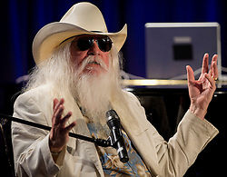 Nov. 13, 2016 - FILE - LEON RUSSELL (April 2, 1942 - Nov. 13, 2016) was an American musician and songwriter, who recorded as a session musician, sideman, and solo musician who was inducted into the Rock and Roll Hall of Fame in 2010. Russell died in his sleep in Nashville at the age of 74, after suffering a heart attack in July 2016. PICTURED: Oct. 28, 2014 - Los Angeles, California, U.S. -  LEON RUSSELL discusses his career in music at the GRAMMY Museum at L.A. Live.(Credit Image: © Brian Cahn/ZUMA Wire)