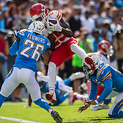 Kansas City Chiefs running back Jamaal Charles (25) broke the team's all-time rushing record with a second quarter touchdown run against the San Diego Chargers at Qualcomm Stadium in San Diego, CA on October 19, 2014.