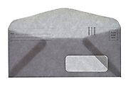 a provided by sender return mailing envelope with one address window front view