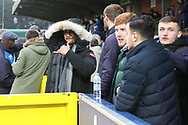 AFC Wimbledon striker Kweshi Appiah (9) prior to kick off during the EFL Sky Bet League 1 match between AFC Wimbledon and Barnsley at the Cherry Red Records Stadium, Kingston, England on 19 January 2019.