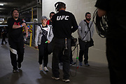 DALLAS, TX - MAY 13:  Jessica Andrade arrives at the arena before fighting Joanna Jedrzejczyk during UFC 211 at the American Airlines Center on May 13, 2017 in Dallas, Texas. (Photo by Cooper Neill/Zuffa LLC/Zuffa LLC via Getty Images) *** Local Caption *** Jessica Andrade