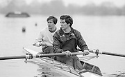 Staines, GREAT BRITAIN,   <br /> Bow. Tom CADOUX-HUDSON and Gavin STEWART.<br /> British Rowing Men's Heavy Weight Assessment. Thorpe Park. Sunday 27.02.1987,<br /> <br /> [Mandatory Credit, Peter Spurrier / Intersport-images] 1987 GBR Men's H/Weight 3rd Assessment Thorpe Park, Surrey. UK