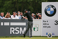 Rory Mcllroy tees off on the 3rd hole during the Celebrity Pro-Am day at Wentworth Club, Virginia Water, United Kingdom on 23 May 2018. Picture by Phil Duncan.