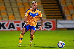 Kellan Gordon of Mansfield Town on the ball - Mandatory by-line: Ryan Crockett/JMP - 27/10/2020 - FOOTBALL - One Call Stadium - Mansfield, England - Mansfield Town v Barrow - Sky Bet League Two