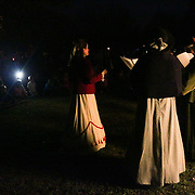 Christmas carolers sing during the Greenfield Christmas Tree lighting at Greenfield Lake Park Thursday December 4, 2014 in Wilmington, N.C. (Jason A. Frizzelle)