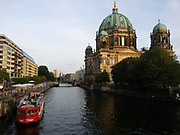 A view of the Berlin Cathedral (Berliner Dom) as seen from Friedrichs Bridge (Friedrichsbrücke), Berlin, Germany, May 21, 2016.