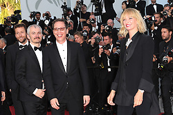 Certain Regard jury members Joachim Lafosse, Reda Kateb, jury president Uma Thurman and jury members Karel Och and Mohamed Diab attend the Based On A True Story (D'Apres Une Histoire Vraie) screening during the 70th annual Cannes Film Festival at Palais des Festivals on May 27, 2017 in Cannes, France. Photo by Shootpix/ABACAPRESS.COM