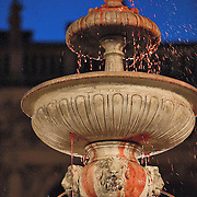 VENICE, ITALY - FEBRUARY 19: The wine fountain in St Mark Square on February 19, 2011 in Venice, Italy. The fountain pouring wine features today during the Gran brindisi a Venezia or Grand Toast in Venice, the opening ceremony of this year Carnival .
