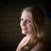 NLD/Naarden/20130415 - Aftrap Album Top 1000 2013, zwemster Marit van Steenbergen