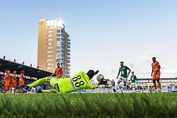 September 30, 2017 - Eskilstuna, SVERIGE - 170930 AFC Eskilstunas MÃ¥lvakt Alireza Haghighi med en räddning under fotbollsmatchen i Allsvenskan mellan AFC Eskilstuna och Jönköping den 30 September 2017 i Eskilstuna. (Credit Image: © Kenta JöNsson/Bildbyran via ZUMA Wire)