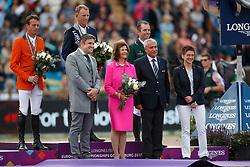Fredricson Peder, SWE, Smolders Harrie, NED, O Connor Cian, IRL<br /> FEI European Jumping Championships - Goteborg 2017 <br /> © Hippo Foto - Dirk Caremans<br /> 27/08/2017,