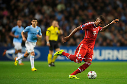 Bayern Defender Jerome Boateng (GER) in action during the first half of the match - Photo mandatory by-line: Rogan Thomson/JMP - Tel: Mobile: 07966 386802 - 02/10/2013 - SPORT - FOOTBALL - Etihad Stadium, Manchester - Manchester City v Bayern Munich - UEFA Champions League Group D.