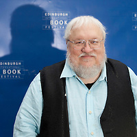 George RR Martin at Edinburgh International Book Festival 2014. <br /> 11th August 2014<br /> <br /> Picture by Russell G Sneddon/Writer Pictures