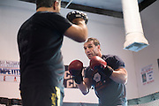 Ken Shamrock trains at Guy Mezger's Combat Sports Club in Addison, Texas on January 19, 2016.