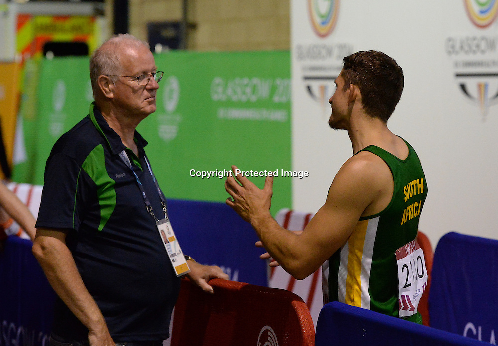 Fanie Van der Merwe and Charl Du Toit win gold and silver in the men's T37 100m event at the Commonwealth Games in Glasgow 2014