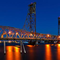 The Memorial Bridge in Portsmouth, New Hampshire.