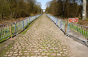 France, Valenciennes, Friday 9th April 2010: View of the pavé in section 17, Trouée d'Arenberg (2,4km). Copyright 2010 Peter Horrell.