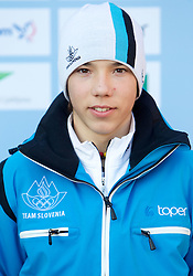 Urh Kranjcan at Official photo of  Slovenia Nordic Combined team for  European Youth Olympic Festival (EYOF) in Liberec (CZE) at official presentation, on February  9, 2011 at Bled Castle, Slovenia. (Photo By Vid Ponikvar / Sportida.com)