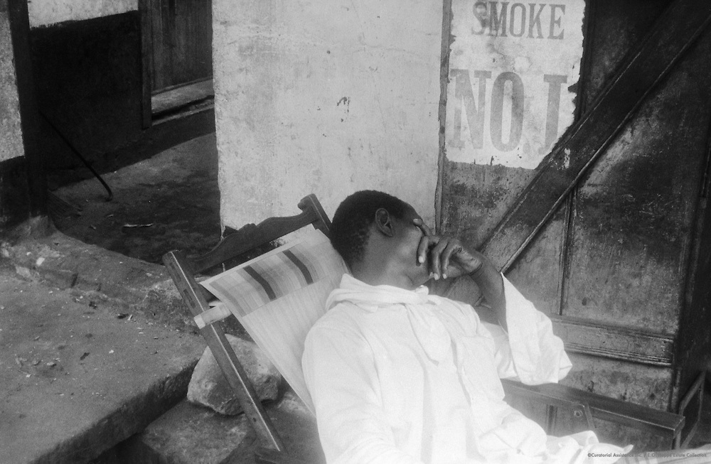Sleeping Man, Lagos, Nigeria, Africa, 1937