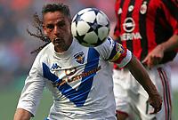 Milano, 16/05/2004<br />Campionato Italiano Serie A 2003/2004 <br />Milan -  Brescia 4-2<br />Roberto Baggio. For him the last match of his career.<br />Photo Graffiti